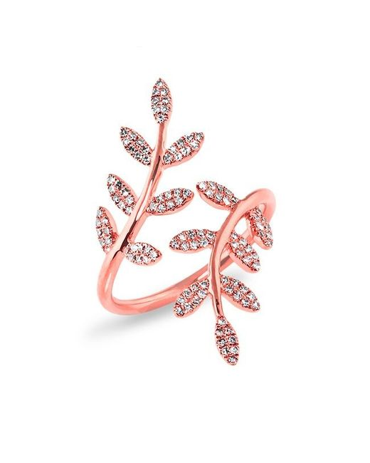 Anne Sisteron - Multicolor 14kt Rose Gold Diamond Ivy Ring - Lyst