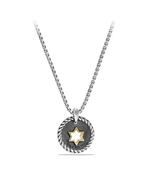 David Yurman | Metallic Petite Pave Star Of David Charm Necklace With Diamonds And 18k Gold | Lyst
