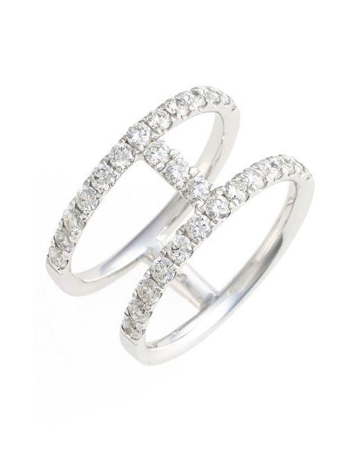 Bony Levy | Metallic 'prism' Two-row Bar Diamond Ring (nordstrom Exclusive) | Lyst