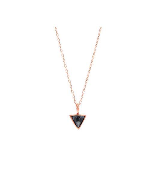 Bing Bang | Pink Delta Bezel Necklace | Lyst