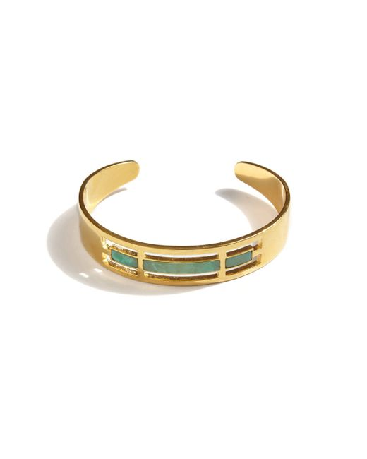 A Peace Treaty   Metallic Tirsa Chrysoprase Cuff Bracelet   Lyst