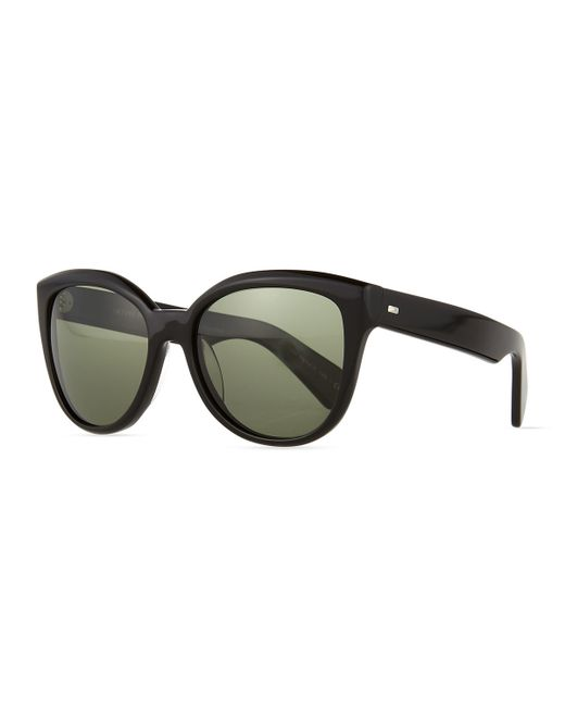 280a0ba692 Oliver peoples Abrie Plastic Polarized Cat-eye Sunglasses in Black