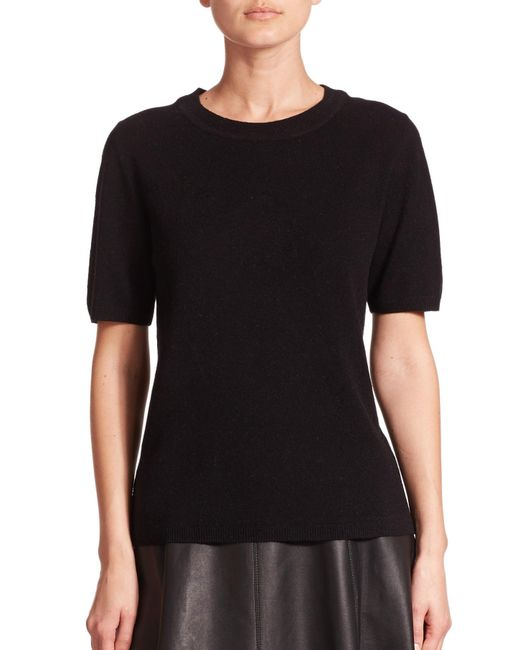 Saks Fifth Avenue | Black Wool & Cashmere Lace-panel Sweater | Lyst