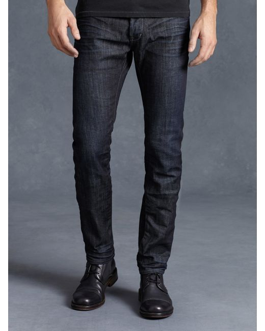 John Varvatos | Blue Cotton Bowery Jean for Men | Lyst