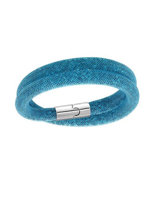 Swarovski | Blue Stardust Crystal Filled Mesh Wrap Bracelet | Lyst