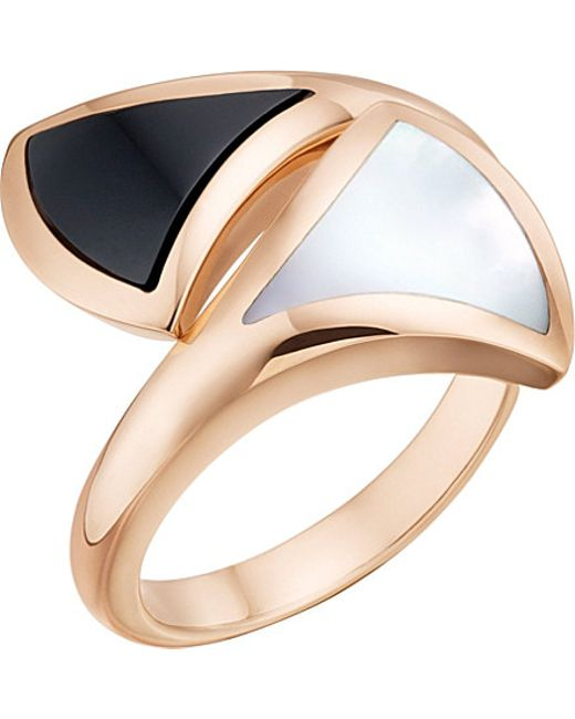 BVLGARI | Black Divas' Dream 18kt Pink-gold Ring | Lyst