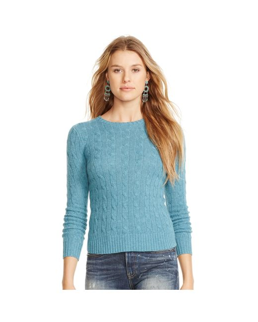 Polo Ralph Lauren | Blue Cable-knit Cashmere Sweater | Lyst