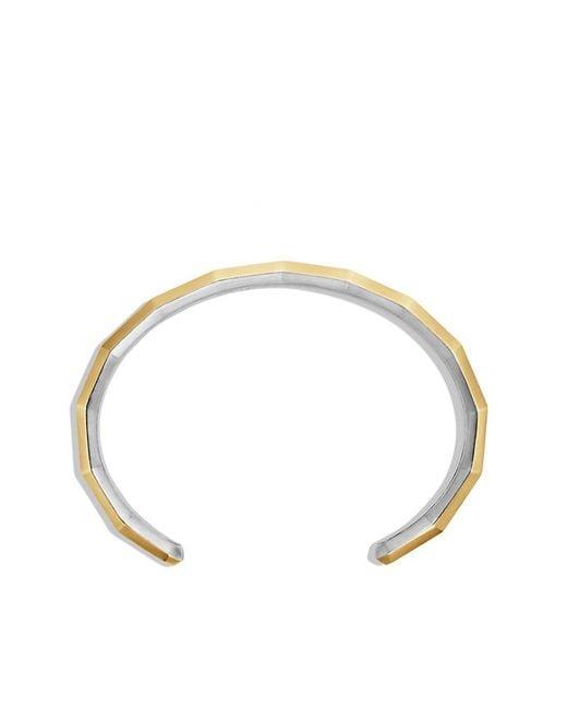 David Yurman | Metallic Faceted Metal Cuff Bracelet With 18k Gold | Lyst