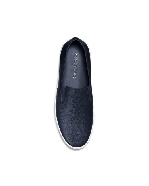 Michael Kors | Blue Evan Saffiano Leather Sneaker for Men | Lyst