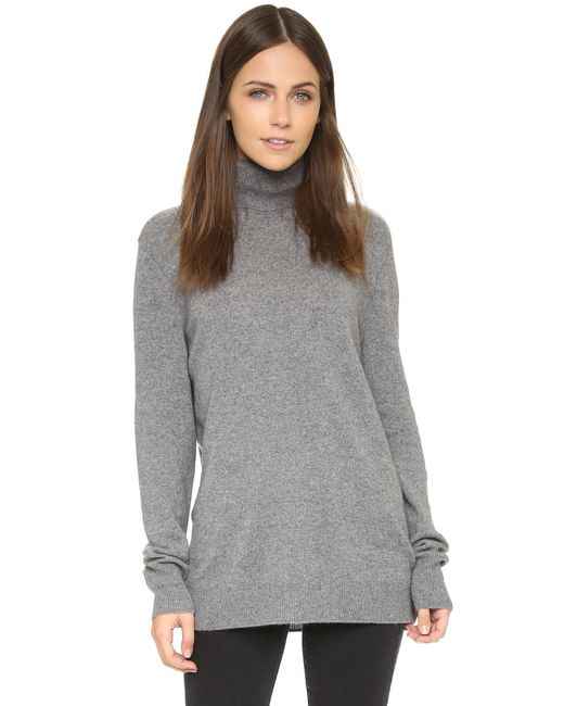 Equipment | Gray Oscar Turtleneck Cashmere Sweater | Lyst
