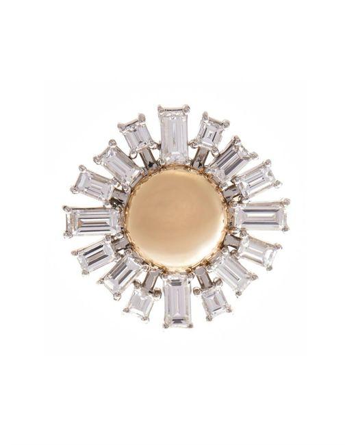 Susan Foster | Diamond, Platinum & Yellow-Gold Ring | Lyst