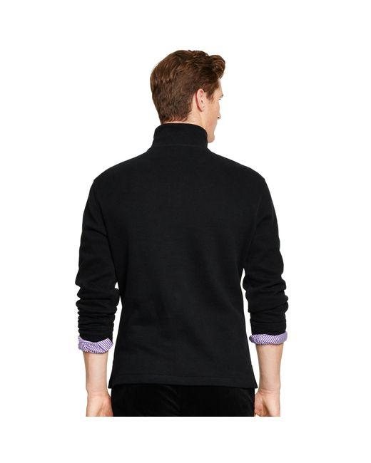 Polo Ralph Lauren | Black French Rib Half-zip Pullover for Men | Lyst