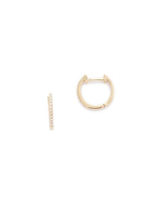 EF Collection | Metallic Diamond Huggie Earrings | Lyst
