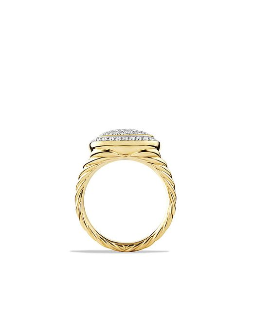David Yurman | Metallic Albion Ring With Diamonds In 18k Gold, 11mm | Lyst