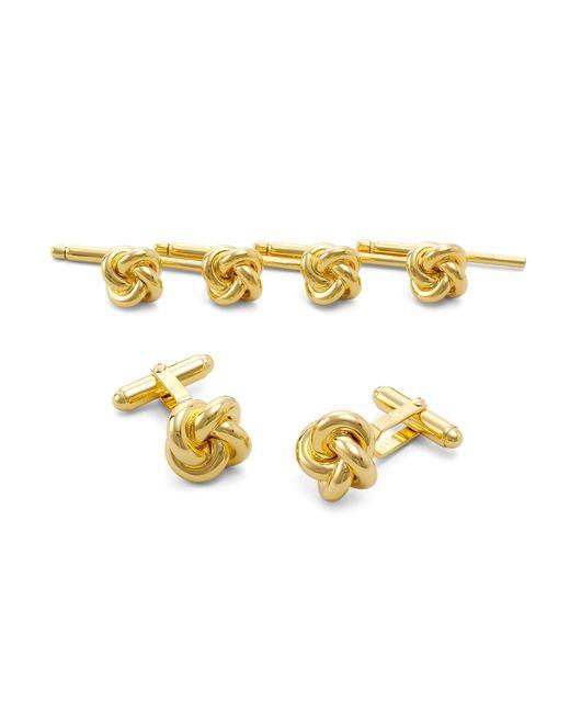 Brooks Brothers | Metallic Sterling Oversized Knot Stud Set for Men | Lyst