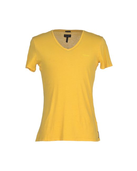 Armani Jeans | Yellow T-shirt for Men | Lyst
