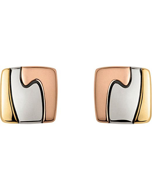 Georg Jensen | 18ct Yellow, White And Red-gold Fusion Earrings | Lyst