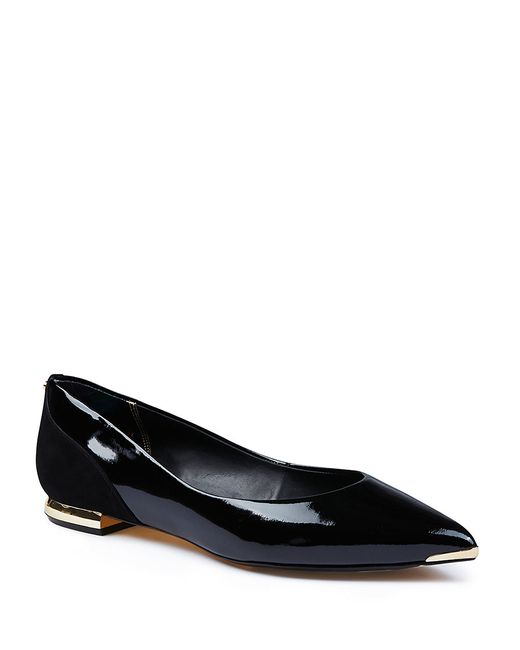 Ted Baker | Black Izlar Patent Leather Flats | Lyst