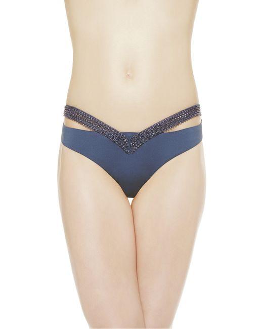 La Perla | Blue Mid-rise Bikini Briefs | Lyst
