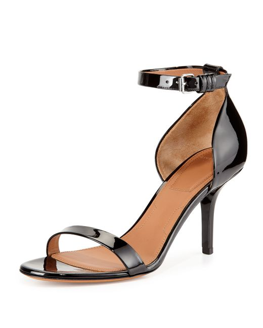 Givenchy | Black Petra Patent-Leather D'Orsay Sandals | Lyst