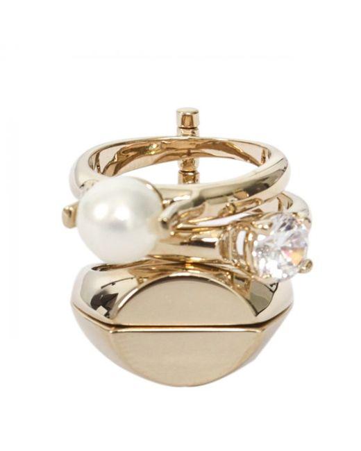 Maison Margiela | Metallic Multi Four Rings Gold | Lyst