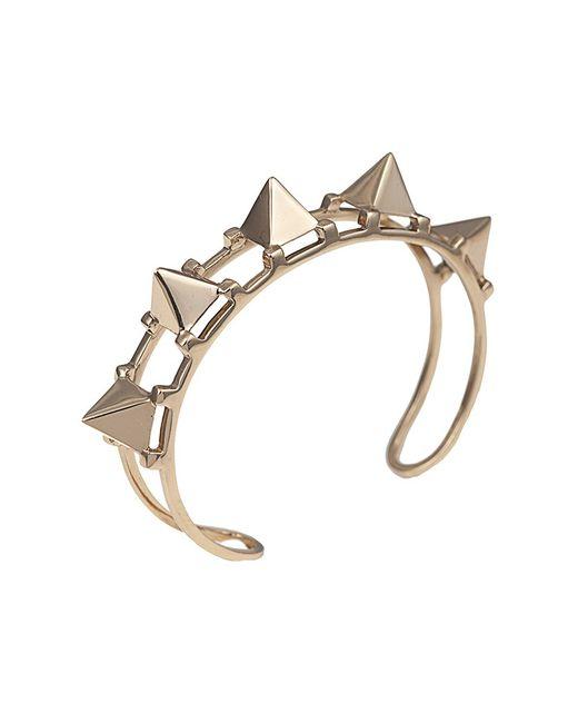 Bernard Delettrez | Metallic Five Pyramid Bronze Cuff | Lyst