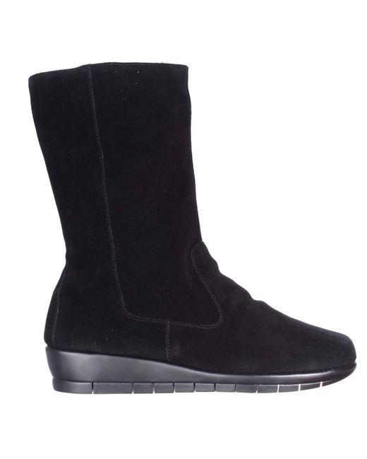 aerosoles plantation suede wedge boots in black save 56