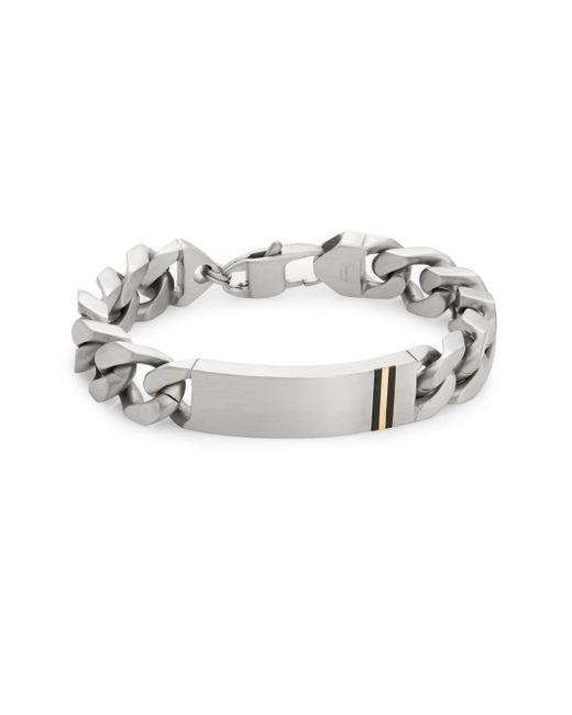 Saks Fifth Avenue | Metallic 14k Yellow Gold, Stainless Steel & Titanium Bracelet for Men | Lyst