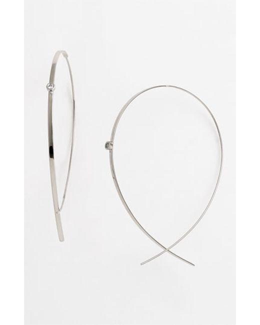Lana Jewelry | White 'flat Upside Down' Diamond Hoop Earrings | Lyst