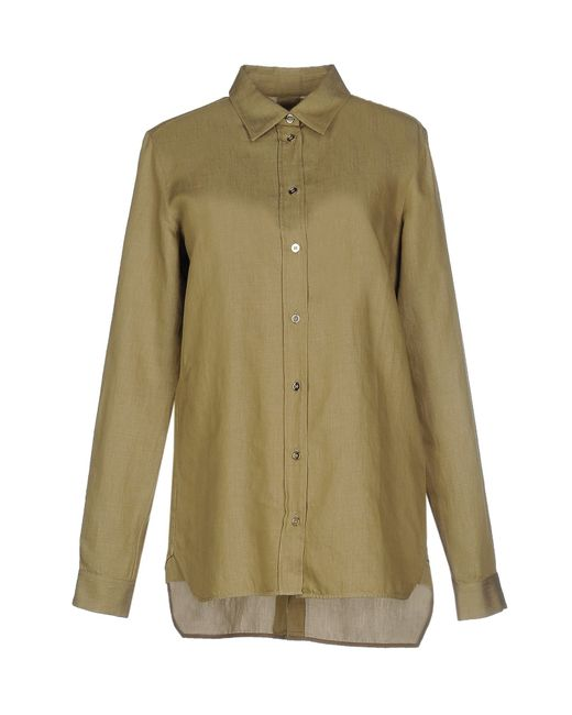 MM6 by Maison Martin Margiela | Green Shirt | Lyst