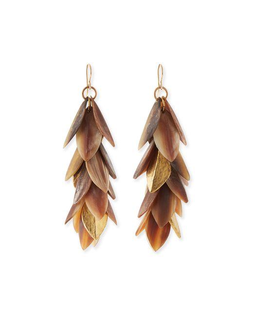 Ashley Pittman | Metallic Tanzu Layered Leaf Dangle Earrings | Lyst