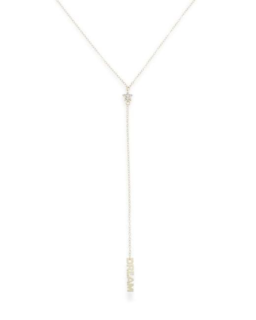 Saks Fifth Avenue   Metallic Diamond & 14k Gold Star 'y' Necklace   Lyst