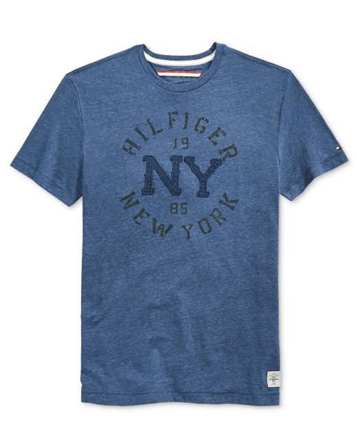 Tommy hilfiger big and tall men 39 s denim curve graphic for Big and tall printed t shirts