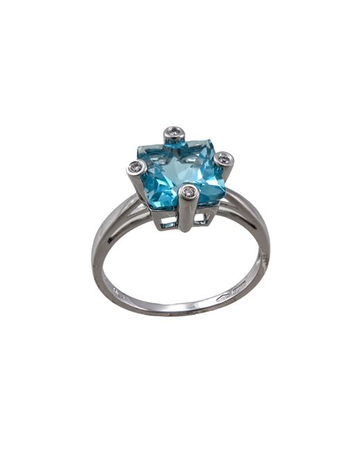 Damiani | Metallic Square 2.11 Blue Topaz & Diamond Ring | Lyst