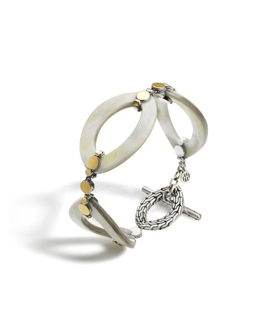 John Hardy   Metallic Link Bracelet With Horn   Lyst