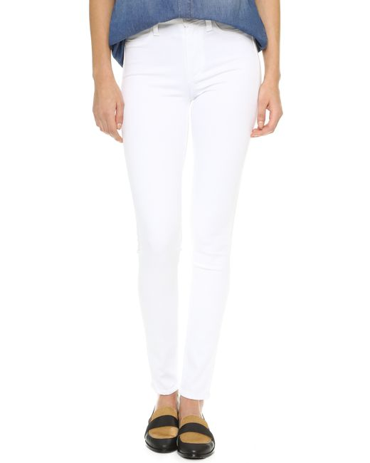 PAIGE   White Transcend Hoxton Ultra Skinny Jeans   Lyst