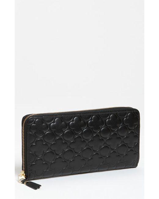 Comme des Garçons   Black Embossed Clover Continental Long Wallet   Lyst