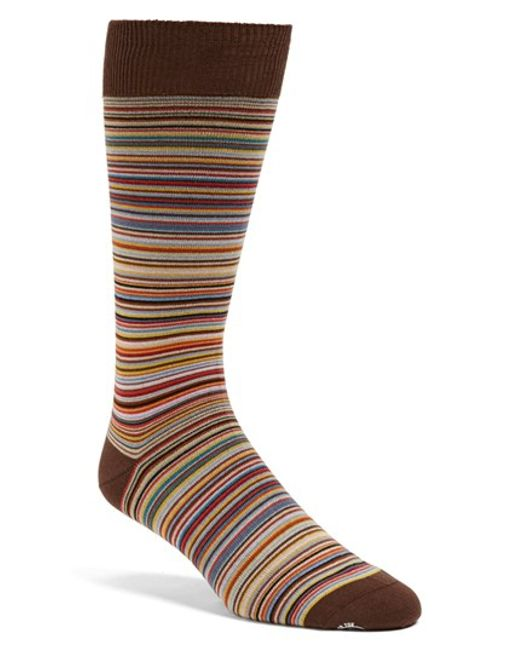 Paul Smith | Brown Multi Stripe Socks for Men | Lyst
