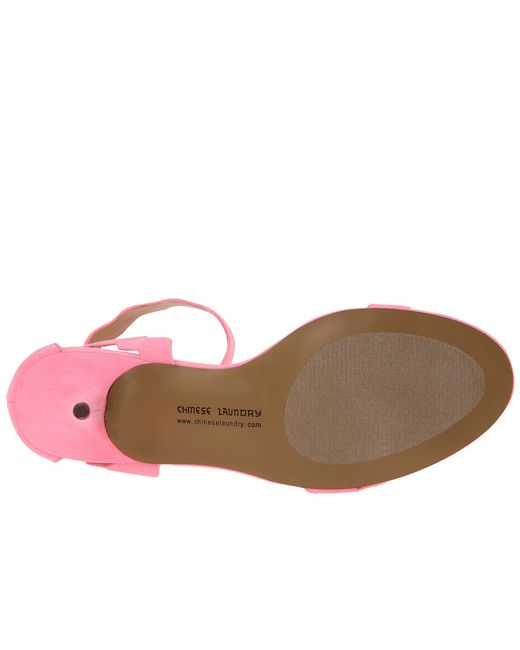Chinese Laundry | Pink Rubie Scalloped Sandal | Lyst