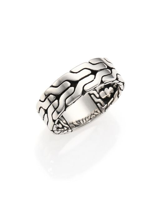 John Hardy | Metallic Classic Chain Sterling Silver Band Ring for Men | Lyst