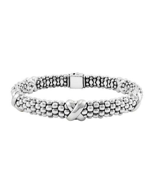 Lagos | Metallic 'x' Two-tone Rope Bracelet | Lyst