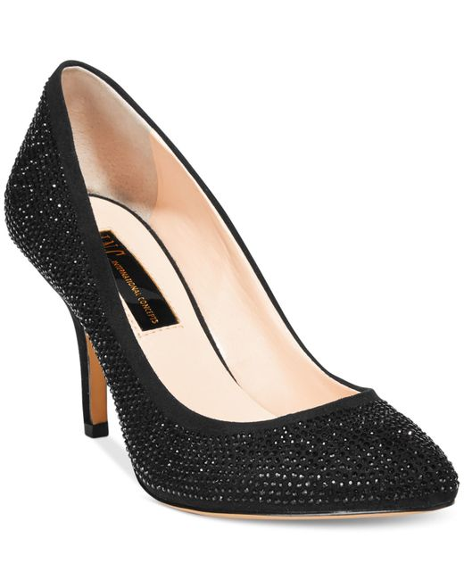 INC International Concepts | Black Zitah Pointed Toe Rhinestone Evening Pumps, Only At Macy's | Lyst