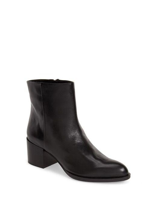 Sam Edelman | Black Joey Leather 55mm Ankle Boot | Lyst