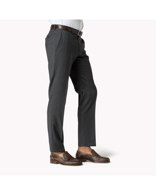 Tommy Hilfiger   Gray Rhames Wool Fitted Trousers for Men   Lyst