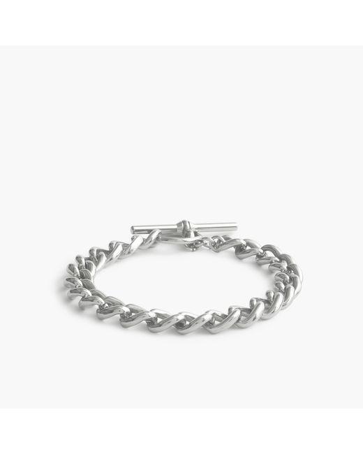 J.Crew | Metallic Simple Link Bracelet for Men | Lyst