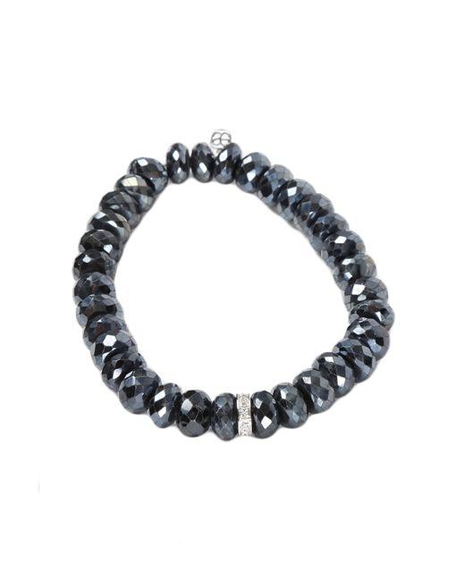 Sydney Evan | 8mm Faceted Black Spinel Bead Bracelet W/diamond Hamsa Charm | Lyst