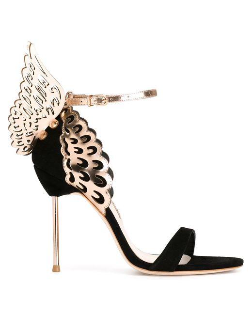Sophia webster 39 evangeline 39 sandals in black lyst for Sophia webster wedding shoes