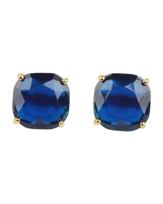 Kate Spade   Blue Small Square Studs   Lyst