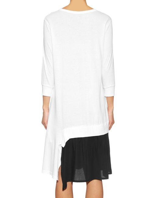 Y's Yohji Yamamoto | Black Asymmetric Jersey Dress | Lyst