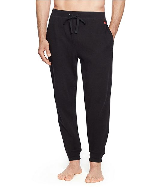 Polo Ralph Lauren | Black Waffle-knit Pajama Pant for Men | Lyst